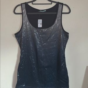 Maurices size X large tank top sequent gray black